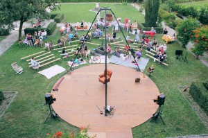 Les Retro Cyclettes structure Velo acrobate